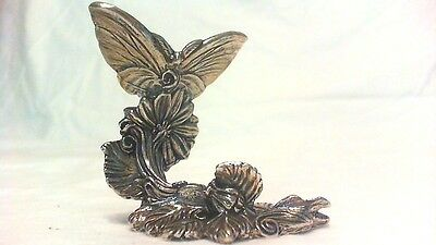Rare Vintage Silver Plated Butterfly Figurine ,solid Detailed Reed & Baron Mint