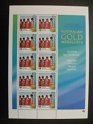 Australian Stamps - 2000 45c Equestrian Event - Sydney Olympics (Sheetlet of 10)