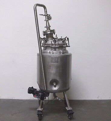 Walker 200 Liter Stainless Steel Jacketed Pressure Tank w/ Agitator & 3 HP Pump