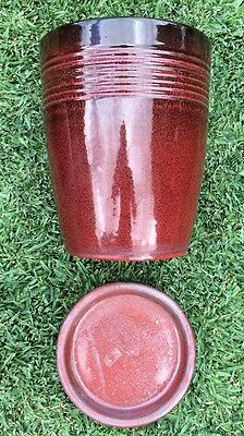 Large Red Glazed Garden Pot