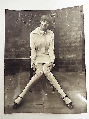 Cilla Black Signed Picture 1960`s Very Interesting Black & White Photograph