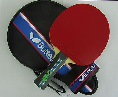 Butterfly Table Tennis Paddle /Bat: TBC-701 TBC701, w/ Case, 2 side Pips-in, UK