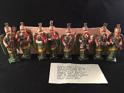 Vintage India MADE WOODEN HAND CRAFTED & PAINTED TOYS Temple Offerings