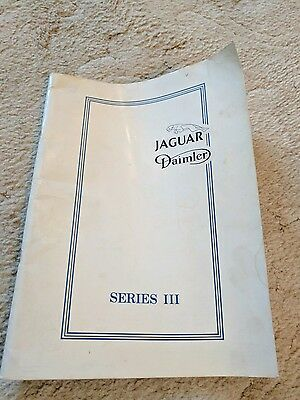 Jaguar Daimler Series 3 Workshop Manual