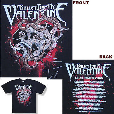 Bullet For My Valentine! Worms 2009 Tour T-Shirt S New