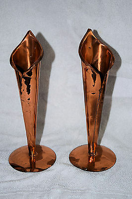 Copper Vase (Pair) Mined And Made In Rhodesia