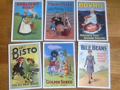 6 Advertising Postcards