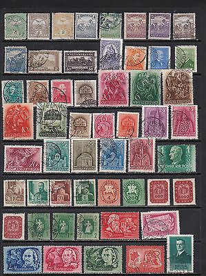 Hungary Wide Ranging Stamp Selection 2 SCANS (Hu06021)