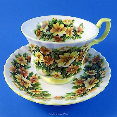 Royal Albert Fragrance Series Marguerite Tea Cup and Saucer Set