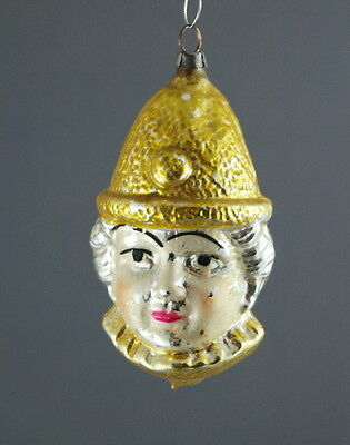 Alter Christbaumschmuck - Glasornament  Pierrot  ca. 1930  (# 7111)