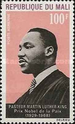 Timbre PERSONNAGES LUTHER KING Mali PA59 * (3529)