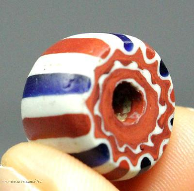 51) Native American Indian Five 5 Layers Small Chevron Old Trade Bead 1700s