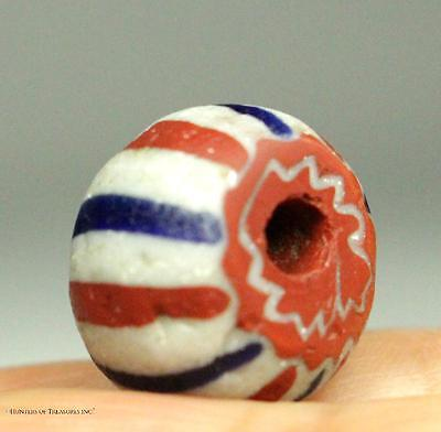 52) Native American Indian Five 5 Layers Chevron Old Trade Bead 1700's