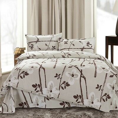 Cherry Blossom Singl Double Queen King Size Bed Set Pillowcase Quilt Duvet Cover