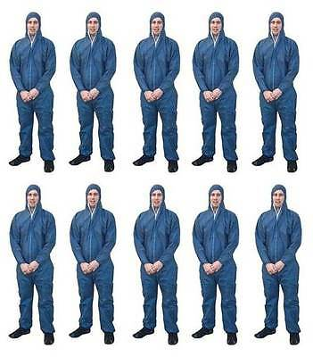 General Purpose Light Weight Blue Disposable Overalls | Pkt 10 | Coveralls