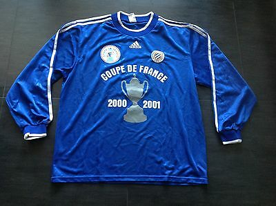 Montpellier 2000/2001 French Cup football match worn shirt