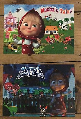 Masha and the Bear two A5 sized flyers would look great framed, new