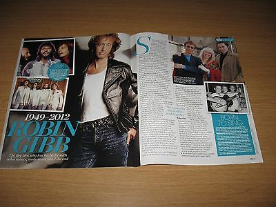 ROBIN GIBB - 2 page magazine clipping - THE BEE GEES