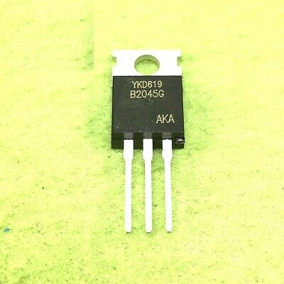 5PCS MBR2045CT 20A 45V Schottky Rectifier TO-220