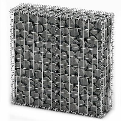 S# New Gabion Wall 4mm Strong Metal Gabions Basket Cage 100x100cm Galvanized Ste