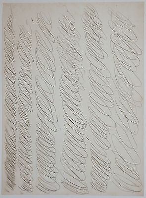 Cy Twombly Lithographie Drawing for manifesto of Plinio 30x45cm Limited Edition