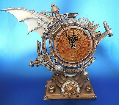 New Alchemy Steampunk Mantle Clock Professor Stormgrave's Celestial Chronometer