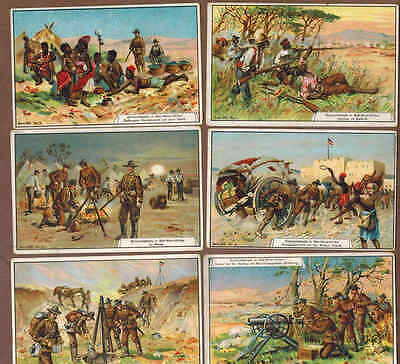 MILITARY, SOUTH AFRICA: Complete Set of RARE Victorian Trade Cards (1900)