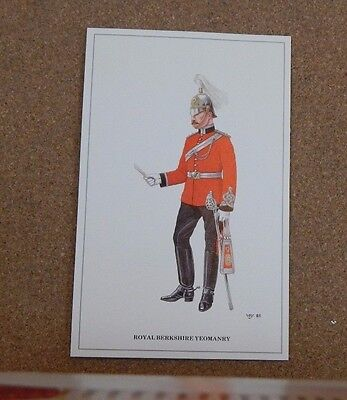 Military Uniforms Postcard Royal Berkshire Regiment  .unposted