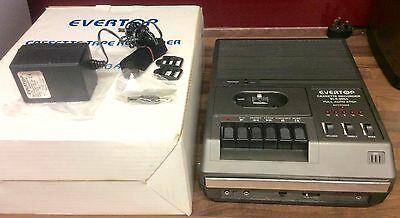 Vintage Evertop Cassette Tape Recorder Perfect Working Order In Original Box