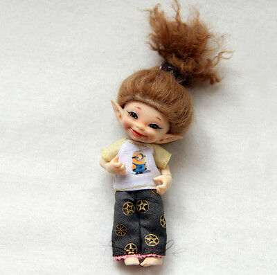T-shirts for Realpuki, Lati White bjd doll dress clothes outfit
