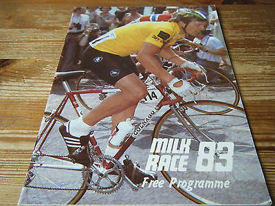 1983  Milk Race - Tour Of Britain  Cycling Programme  -  32  Pages   Vgc