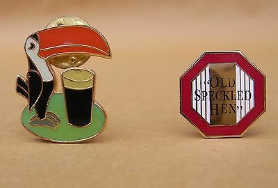 Breweriana - Speckled Hen & Guinness Pin Badges