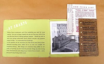 Vintage Smarts Furniture & Radio Catalogue Early 1950's