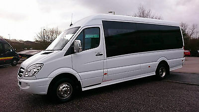 Mercedes Sprinter 515 cdi ,16 seater front entry luxury coach .2010, 10 plate
