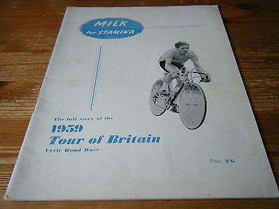 1959   Milk Race - Tour Of Britain  Cycling Programme  -  36  Pages   Vgc