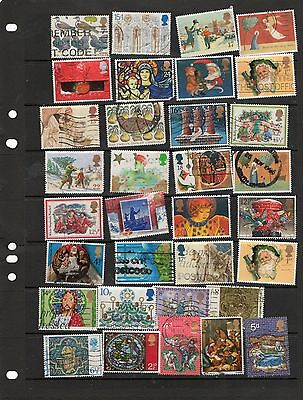 Sheet of GB Christmas stamps ( used) lot 2