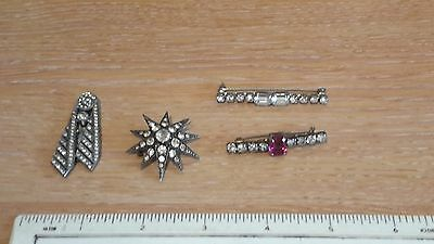 FOUR Antique Jewelled brooches