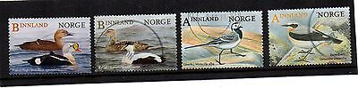 NORWEGIAN : 2016 BIRDS  Fine Used Set ( FOUR VALUE SET )