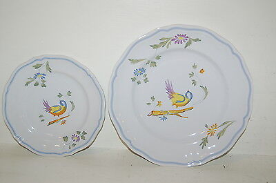 LONGCHAMP Perouges 10 1/2 Inch Dinner Plate & 7 1/2 inch Salad Plates France