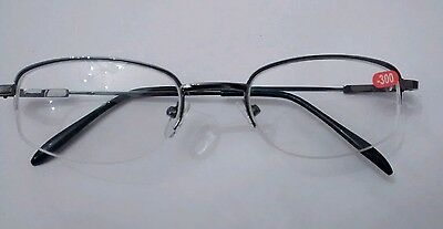 Myopic Half Rimmed Glasses for Long Sight for Short Sighted Individuals in Black