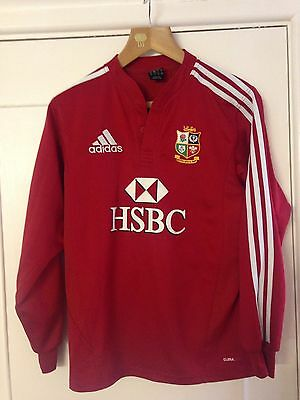 British lions Rugby shirt 2009 south Africa tour Red Small Long Sleeve