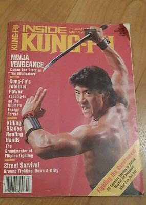 Inside Kung-Fu Karate Martial Arts March 1986 very rare