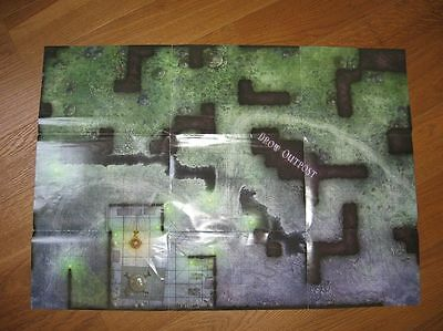 D&D Pathfinder Miniatures - Spielplan Map Spielfeld Outpost Dungeons and Dragons