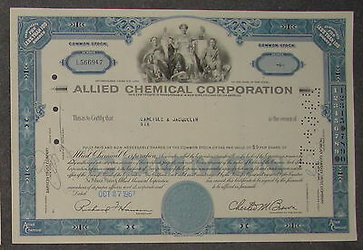 Allied Chemical Corporation 1967 6 Shares
