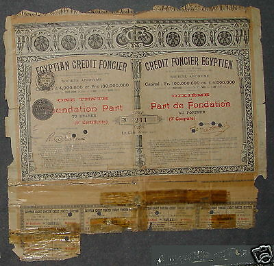 Credit Foncier Egyptien 9th  Certificate 1905