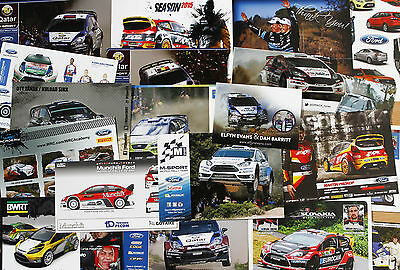 Selection of 20  WRC RALLY  FORD MOTORSPORT World Rally Team photocards.