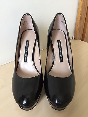 Beautiful French Connection Black High Heel Shoes Size 38 (5)only Worn Once