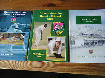 3  Gloucestershire   Ccc  Yearbooks    1993  1994  1997   All Vgc