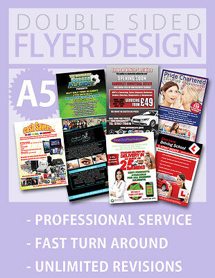 Custom Flyer Design Service - Double Sided - Fast - A5