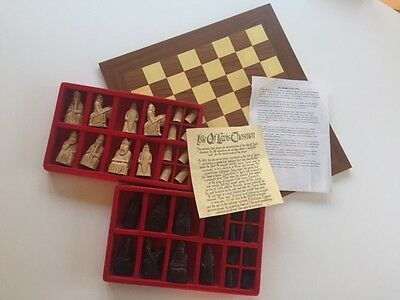 Isle of Lewis Chessmen Chess Set and Board